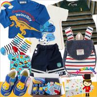 男の子出産祝い 成長してからも嬉しい4サイズベビー服セット(I)