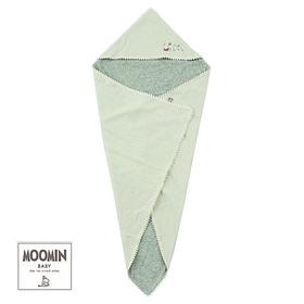 Moomin baby ムーミン フード付きおくるみ/F/無地 ネイビー