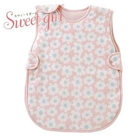 赤ちゃんの眠りを優しくサポートする花柄スリーパー(ピンク)