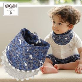 Moomin baby ムーミン ハンキィビブ/タイニーストライプス/ネイビー