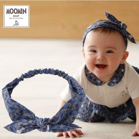 Moomin baby ムーミン リボンヘアバンド/ボンゴボンゴ/ネイビー