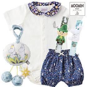 Moomin baby ムーミン男の子出産祝い ベビー服とおもちゃセット