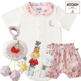 女の子出産祝い ムーミン ベビー服とおもちゃ4点セット
