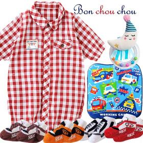 新生児にも嬉しいBon chou chouベビー服 男の子出産祝いプレゼント