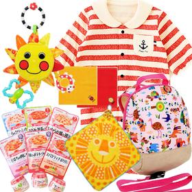 女の子出産祝い ベビー服とsassyベビー用品、離乳食9食セット
