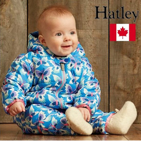 カナダHatley 防寒ベビー服 IcyButterflies Infants Winter Puffer