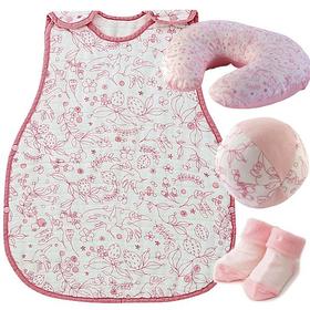 女の子出産祝い D BY DADWAY 日本製 ふんわりやさしい育児用品セット