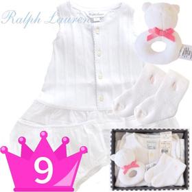 RALPH LAUREN ラルフローレン新生児ベビー服4点 当店人気8位 RALPH LAUREN ラルフローレン新生児ベビー服4点 女の子出産祝いセット