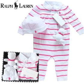 RALPH LAUREN ラルフローレン ボーダーカバーオール4点女の子出産祝いセット