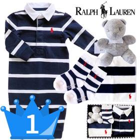 男の子出産祝い RALPH LAUREN ラルフローレン カバーオールギフト4点セット