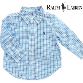 RALPH LAUREN ラルフローレンベビー服 長袖チェックシャツ