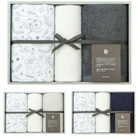 D BY DADWAY 選べる3色 ベーシックタオルセット/M/ユメミルヒツジ