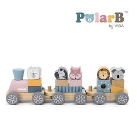 木製玩具 PolarB(ポーラービー) つみきトレイン