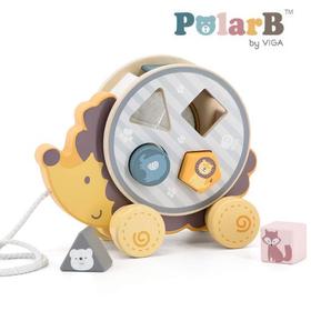 木製玩具 PolarB(ポーラービー) ソーティングプルトイ・はりねずみ