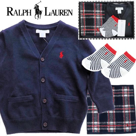RALPH LAUREN ラルフローレン 男の子出産祝い&1歳お祝いカーディガンギフト
