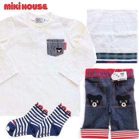 mikihouse ミキハウス 男の子おでかけベビー服出産祝いセット