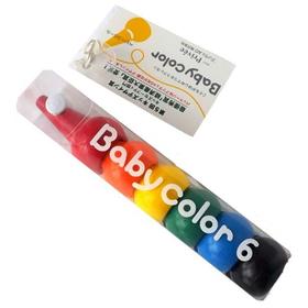 """なめても安全クレヨン """"Babycolor(ベビーコロール)"""" 6色"""