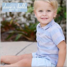 Dave&Bella natural チェック(半袖) サイズ80(12~18ヶ月)