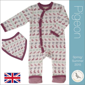 Pigeon (ピジョン) 女の子 出産祝い ベビー服(コトリやウサギ)&木のおもちゃセット