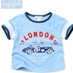 Dave&Bella LONDON ALL STAR CAR Tシャツ
