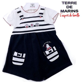 フランス製ベビー服 Terre de marins DERINNEワンピースベビー服