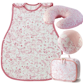 女の子出産祝い D BY DADWAY 日本製 ベビー用品4点セット