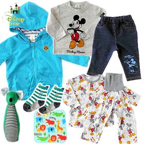 男の子出産祝い ミッキーベビー服 成長応援8点セット
