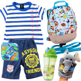 男の子出産祝い 春夏ベビー服とベビー用品8点セット
