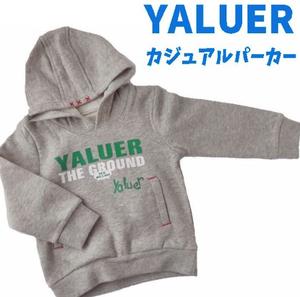 YALUER カジュアルパーカー(グレー)
