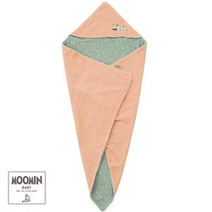 Moomin baby ムーミン フード付きおくるみ/F/無地 ピンク
