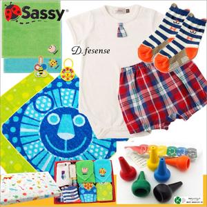男の子出産祝い D.fesenseベビー服とsassyタオルセット