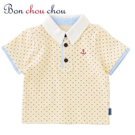 ボンシュシュ マリンベビー服ポロシャツ