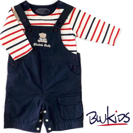 イタリア Blukids オーバーオールベビー服
