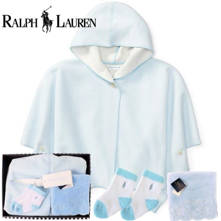 男の子出産祝い RALPH LAUREN ラルフローレン フリース フーデッド ポンチョセット