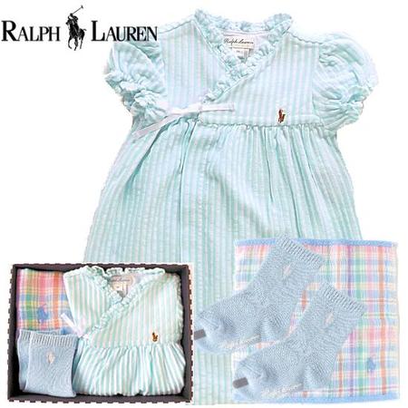 女の子出産祝い RALPH LAUREN ラルフローレン ベビー服3点セット