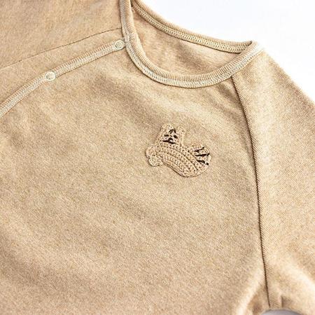 pompkins baby 出産祝い 日本製オーガニックコットン シマリスベビー服