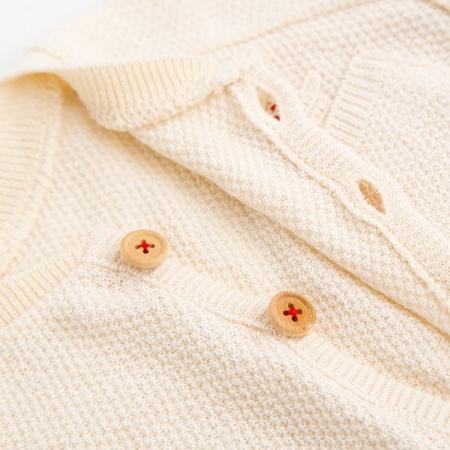 オーガニックニット カノコ編み ベビーカーディガン