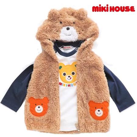 mikihouse ミキハウス くまみみベストベビー服
