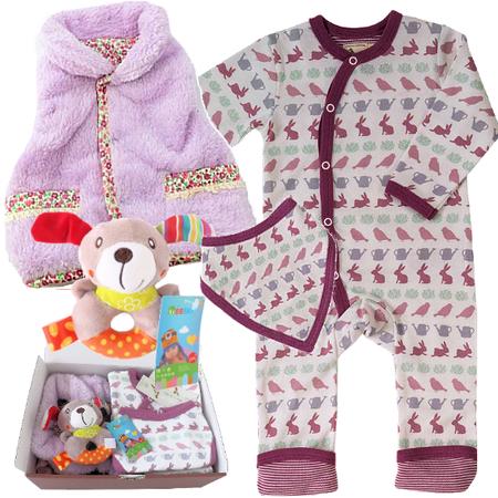 女の子出産祝い オーガニックコットン イギリスベビー服セット