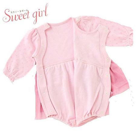 女の子チュール付ベビー服